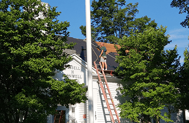 R. H. Conwell Roofing Begins