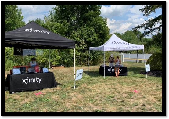 Comcast Xfinity Tent Event